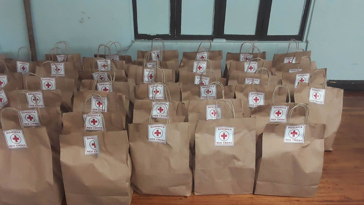 The Dominica Red Cross supports people in quarantine